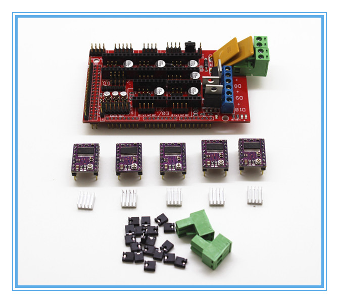 Гаджет  3D Printer RAMPS 1.4 control panel printer Control Reprap MendelPrusa + 5pcs DRV8825 Stepper Motor Drive Carrier Reprap None Электронные компоненты и материалы