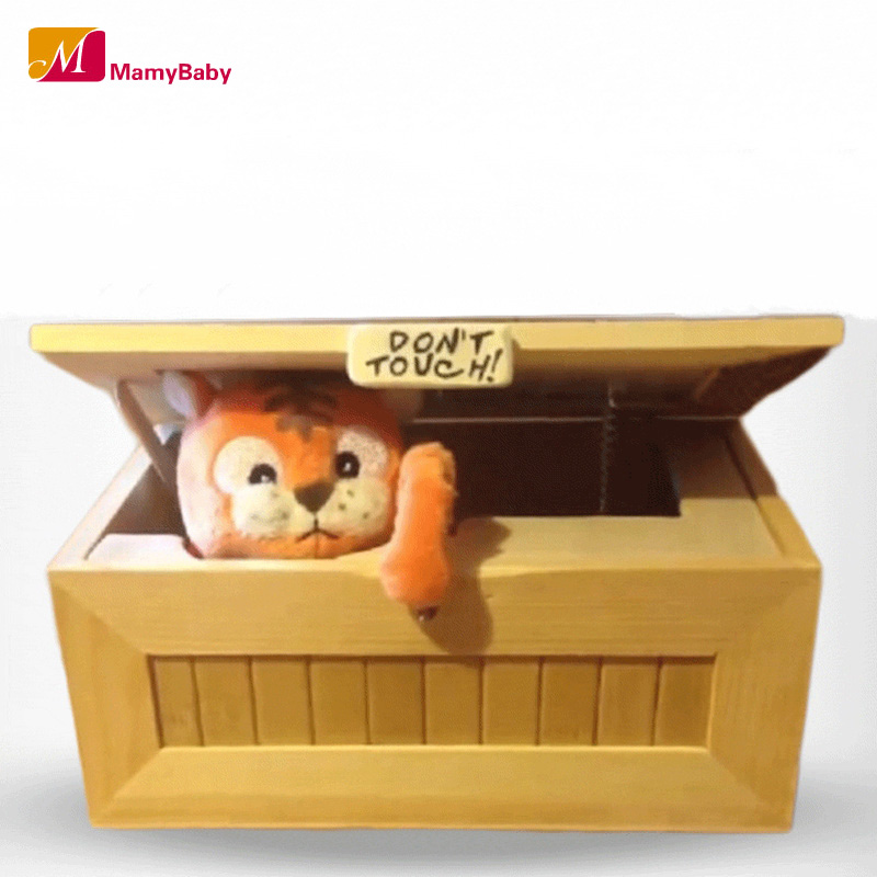 2016 Fashion Cartoon Tiger Useless Box Creative Adult Gifts Gags Practical Jokes Gimmicky Funny Box Toys For Friends and Kids(China (Mainland))