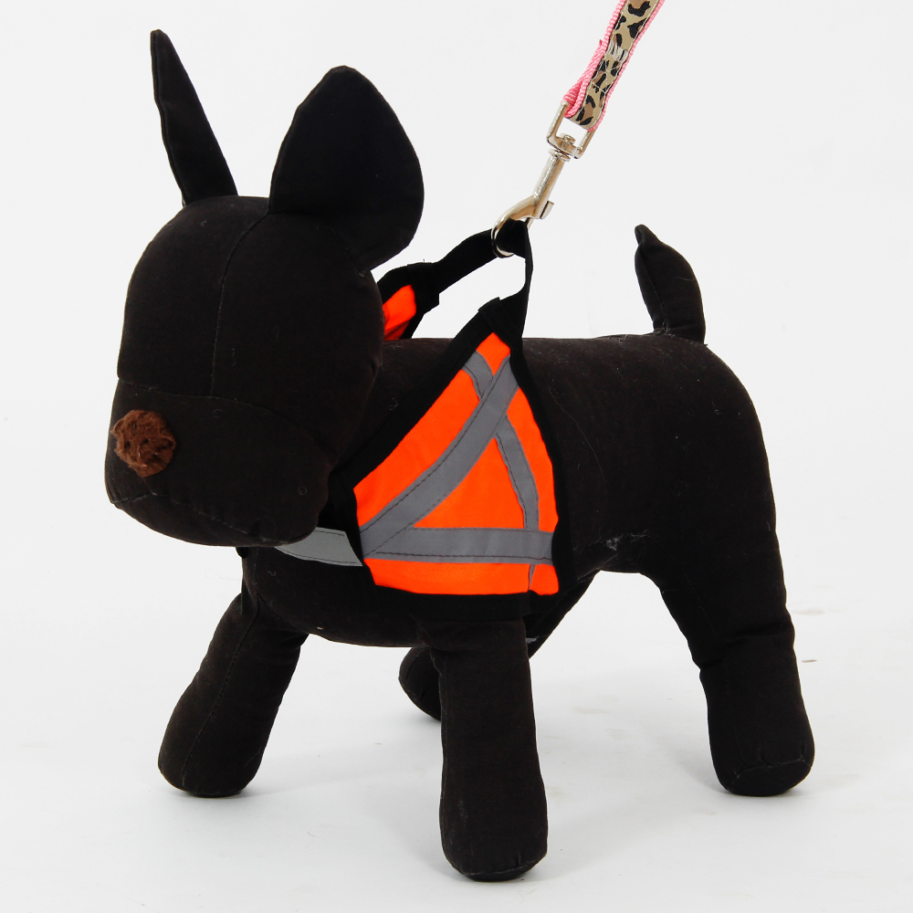 Fashion Design Pet Harness For Safety Reflective Orange Puppy Dog Cat Harness S/M/L Pet Supplies High Quality Dog Pets Products(China (Mainland))