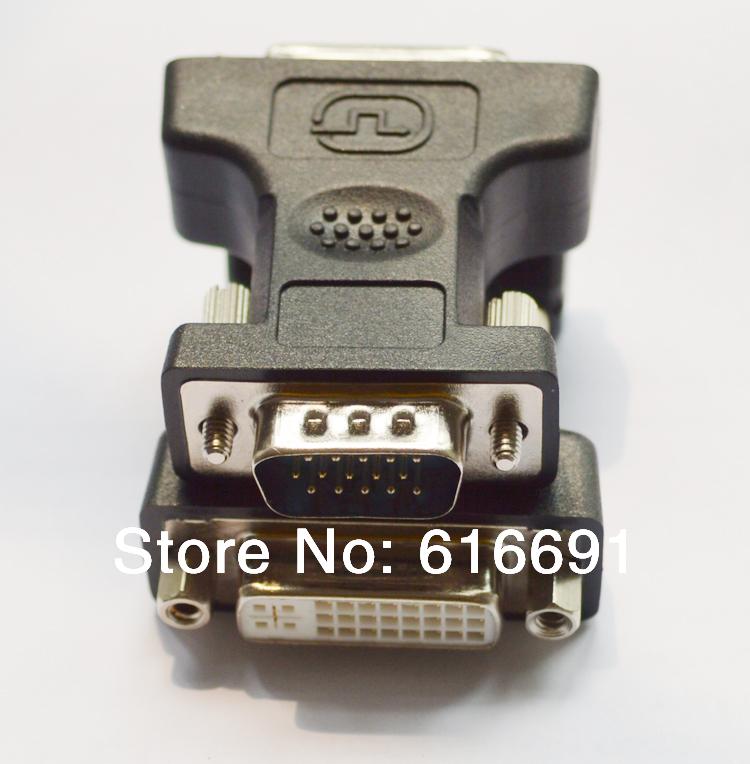 Free shipping 2pcs/lot DVI to VGA Adapter Connector DVI 24+5PIN to VGS Adapter/adaptor Converter/convertor VGA to DVI adapter(China (Mainland))