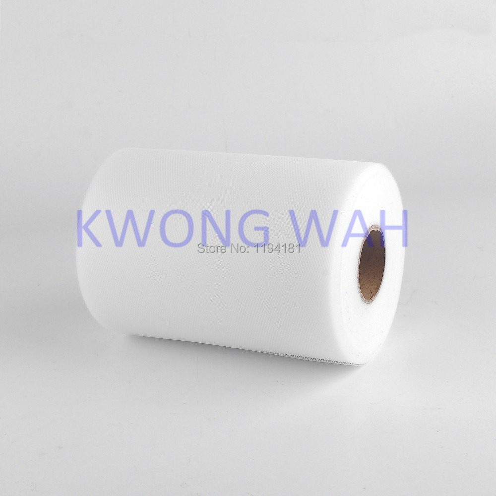 """Special Offer Free Shipping White TULLE Roll Spool 6""""x100yd(15cm x 91 metres)Tutu Wedding Gift Bow(China (Mainland))"""