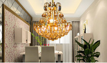 Luxury Ball Chandelier Crystal Pendant Lamp Gold Chandelier lighting for Dining Room (China (Mainland))