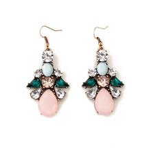 Buy Women's Lady Wild Crystal Flowers Drip Gold Color Dangle Earrings brincos oorbellen Jewelry for $1.31 in AliExpress store