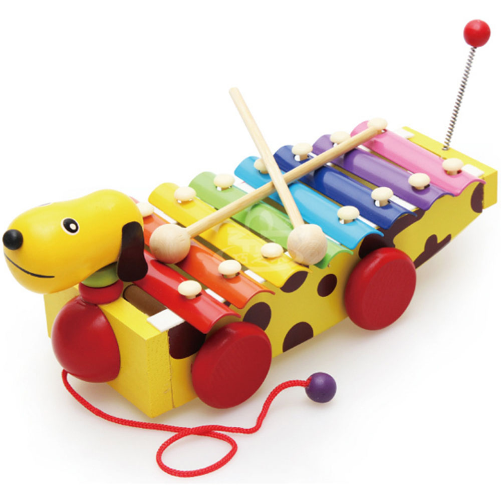 Early Childhood Educational Toys : Cartoon drag serinette wooden baby early childhood music