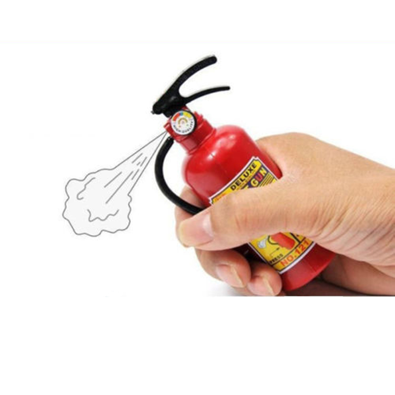 2pcs/lot Free shipping Children's Plastic Tricky Little Squirt Toy Water Gun Fire Extinguisher Style GYH(China (Mainland))