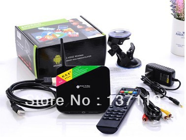 CS 968 Android 4.2 TV BoxRK3188 28nm Cortex-A9 Quad Core 2G DDR3 8GB Nand Flash bluetooth build-in camera - Aisat hi-tech limited store