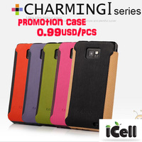 0.99usd/pcs FREE SHIPPING  promotion case ,Original KLD  Charming I SERIES Ultra Slim Leather Case  For samsung galaxy s2 i9100
