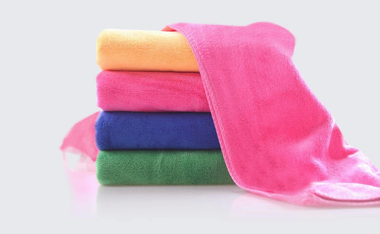 5PC Free Shipping High Quality Small Towel 25*25cm Fast Drying Multi-Function Kitchen Towels For Tea Hand Dish Car cloth(China (Mainland))