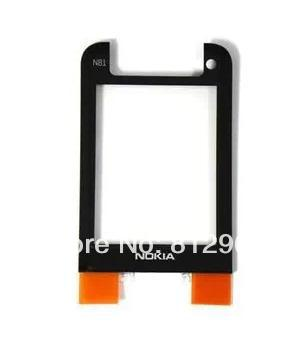 10pcs/lot,new front LCD Screen Lens Glass cover For NOKIA N81,black color,free shippinhg(China (Mainland))