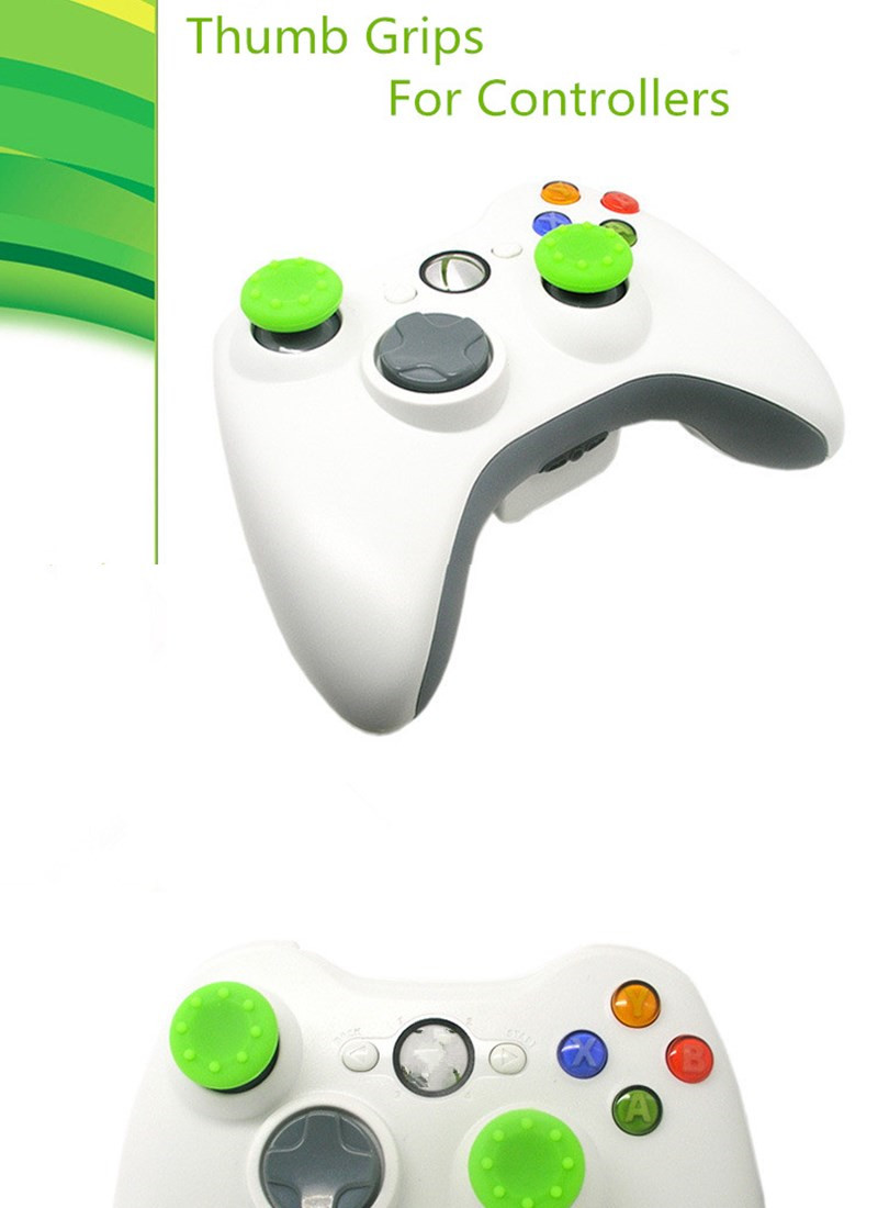 image for Silicone Analog Grips Thumb Stick Handle Caps Cover For Sony Playstati