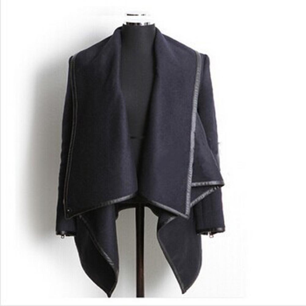 New woman Fashion winter woolen overcoat women fashion Jackets woolen coat 4 colors Drop shipping