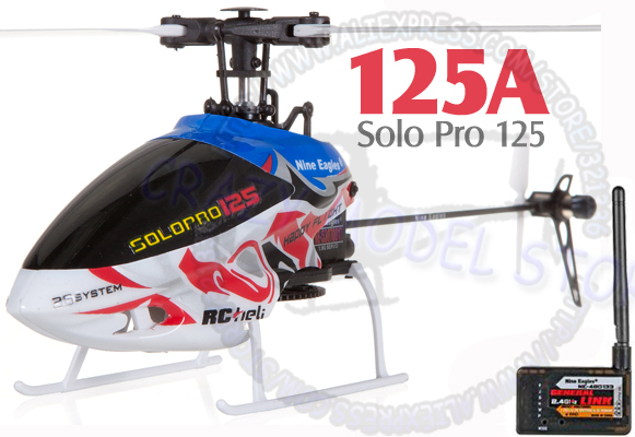 Nine Eagles SOLO PRO 125 6CH Flybarless Micro Helicopter with General Link BNF(China (Mainland))