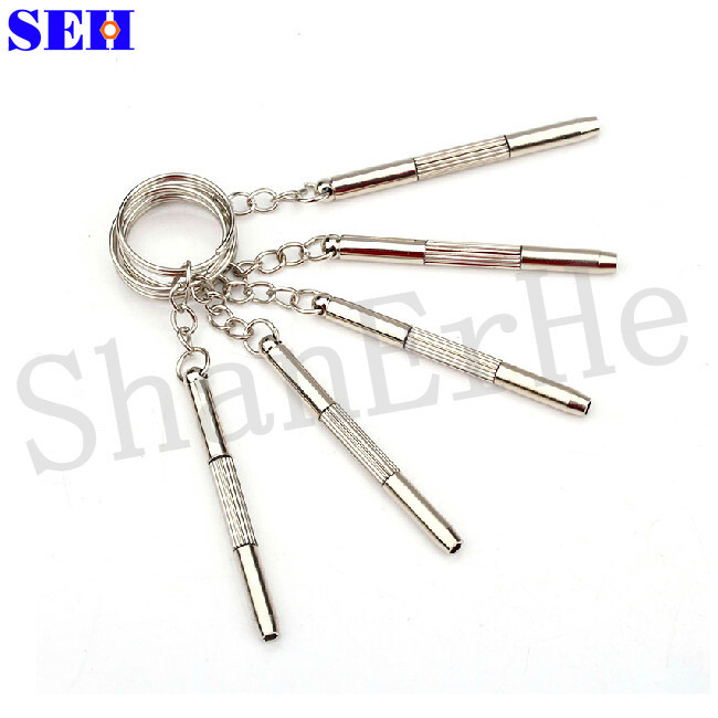 5pcs 3in1 Eyeglass Screwdriver Tool Sunglass Toys Watch Repair With Keychain Multi Function Professional Repair Kit