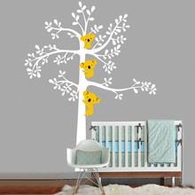"""Buy Oversize 85""""x69"""" 3 Koalas Tree Nursery Vinyls Wall Sticker Tree Wall Decals Art Baby Kids Bedroom Decor Wall Sticker for $42.99 in AliExpress store"""
