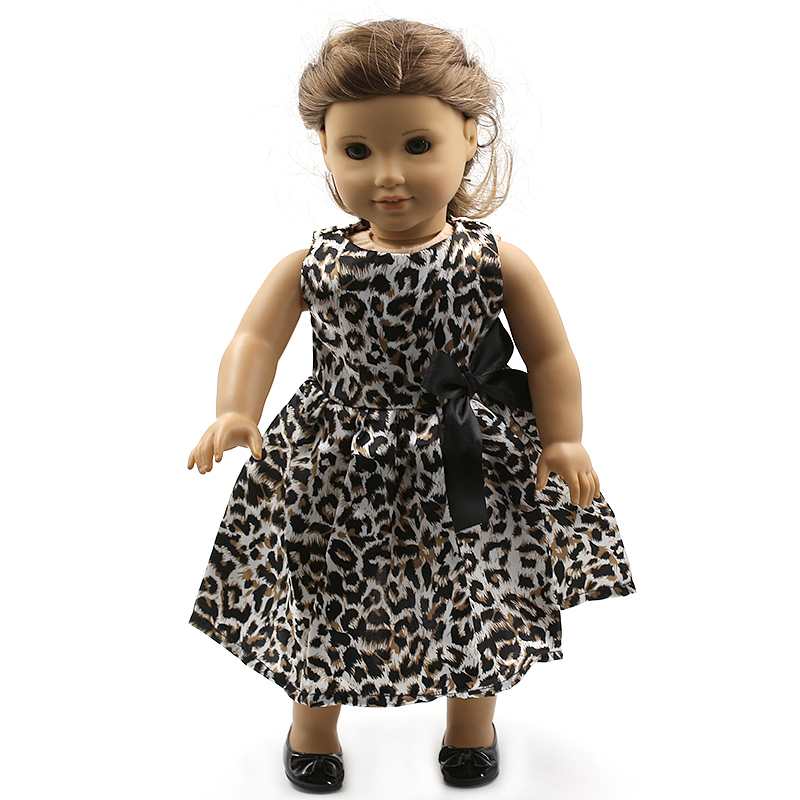 """Wholesales Leopard Doll Clothes For 18"""" American Girl Handmade Free shipping MG099(China (Mainland))"""