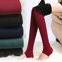 8 Colors Winter Plus Cashmere Leggings Woman Casual Warm Plus Size Faux Velvet Knitted Thick Slim Leggings Super Elastic(China (Mainland))