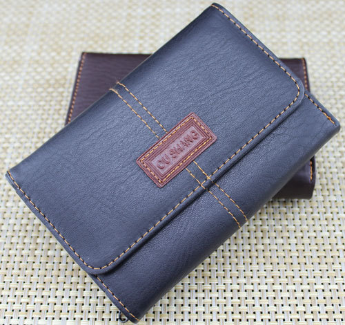 With Zipper Coin bag Wallet Men PU Leather Organizer Male Wallets Card Hold 2015 Hot Casual