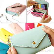 2014 New Womens Multifunctional Envelope Wallet Coin Purse Phone Case for iPhone 5/4S Galaxy S2/S3 1OEK(China (Mainland))