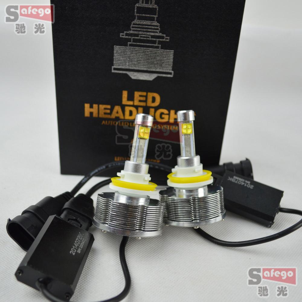 H11 h7 car led headlights bulb 40W auto LED cree ETI high power H3 H8 H9 9005 9006 H1 LED car headlight bulbs headlamp 6000LM(China (Mainland))