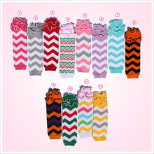Posh Cotton Halloween Chevron Zigzag Kids Baby Leg Warmers Ruffle Socks Wholesale/Retail Free Shipping(China (Mainland))