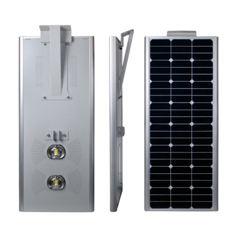 12v 50W All-in-one solar street light 5500lm single chip and integrated solar powered light standing alone solar lamp pole IP65(China (Mainland))