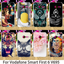 Smartphone Cases For Vodafone Smart First 6 V695 4.0 inch Case Minions Flower Hard Back Cover Skin Housing Sheath Hood Bag Shell(China (Mainland))