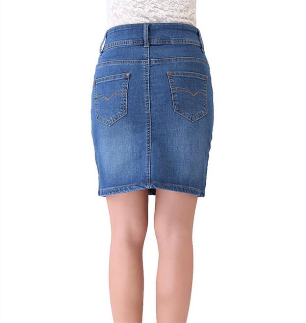 New Casual Women Summer Saias Plus Size Jeans Skirt Ladies ...