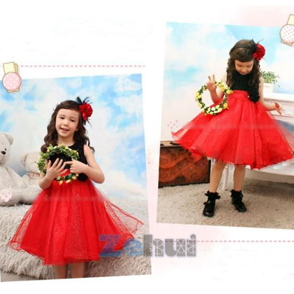 New 2015 baby girls princes lace floral tutu dress for summer dresses fashion(China (Mainland))