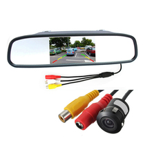 Car Rearview Parking Camera with 4.3 Inch TFT LCD Monitor for Reversing Backup Parking Assitance Waterproof 170 Lens Angle CMOS(China (Mainland))