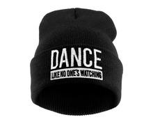 Winter Hat Beanie DANCE LIKE NO ONE'S WATCHING Men and Women Knitted Warm Hats Unisex Caps Gorros Bonnet Skullies Gorro Invierno(China (Mainland))