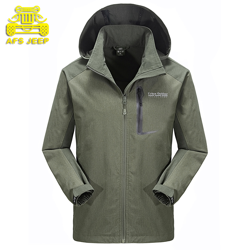 2016 new outdoors mens jacket men hiking camping skiing fishing outdoors coat windproof waterproof  jackets AFS JEEP 6613<br><br>Aliexpress