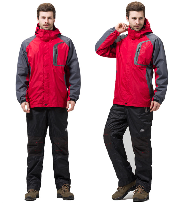 2015 New High Quality Mens Outdoor Brand 3in1 Waterproof Breathable Climbing&amp;Hiking Jacket Man Add Size 3XL <br><br>Aliexpress