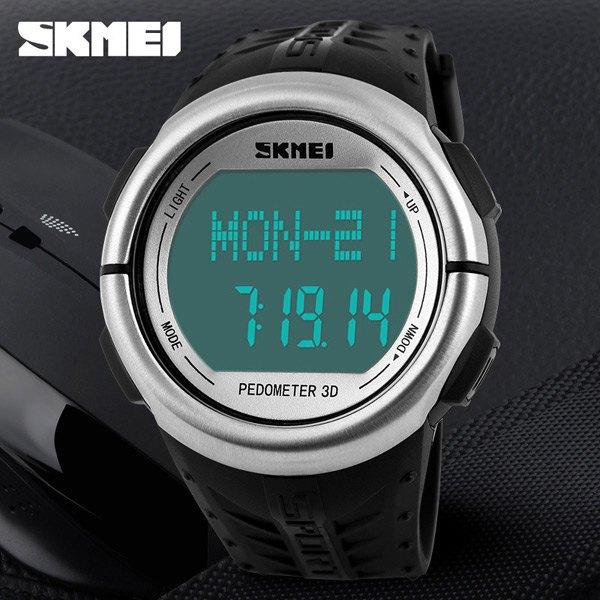 Skmei монитор сердечного ритма шагомер спортивные часы 50 м водонепроницаемый наружный цифровой мужчины женщины счетчик калорий relogio masculino