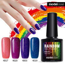Modelones Colorful Neon Gel Nail Polish UV Gel Nail Polish Long lasting Soak off LED UV