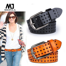 Buy HOT SALE:2015 Adult Belts Free Hot Sale Hk Cutout Strap Female Genuine Leather Cowhide Belt Elastic Hollow for $9.80 in AliExpress store