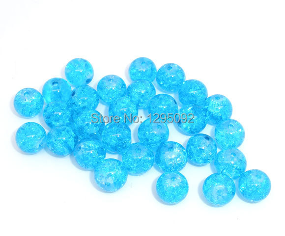 2500Pcs Wholesale New Glass Crackle Blue Spacer Beads Round Perles Intercalaires DIY Jewelry Findings 8mm<br><br>Aliexpress