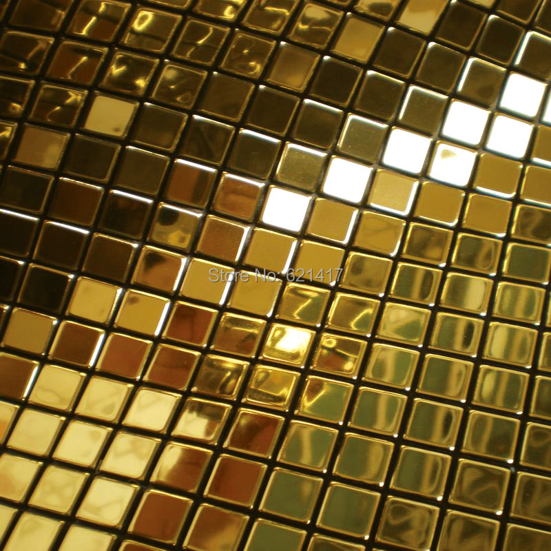 Гаджет  Metal golden mosaic mirror aluminum plastic plate gold foil mosaic tiles for kitchen backsplash decoration tiles HMSM1010 None Строительство и Недвижимость