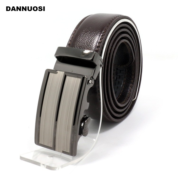 [DANNUOSI]Men's brown leather belt automatic buckle belts leisure wild letters Korean tidal jeans fashion leather belt wholesale(China (Mainland))