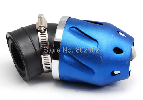 Bullet Air Filter 35mm Intake Pipe for 50cc Motorcycle Dirt Bike ATV Scooter Blue High Quality(China (Mainland))