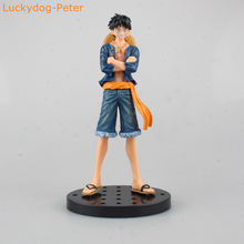 Buy One Piece Jeans Ver. Luffy Action Figure Monkey D Luffy Doll PVC ACGN figure Garage Kit Toys Brinquedos Anime 18CM for $14.99 in AliExpress store