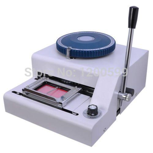 100% New Manual 70 Code Letterpress PVC card embossing machine Magnetic Membership ID Plastic Card Embosser Printer(China (Mainland))