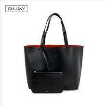 Buy chjjny mansur designer gavriel tote original logo women shopper large shoulder bag designer handbag genuine real leather for $51.23 in AliExpress store