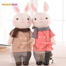 Metoo Plush Toy Kawaii Rabbit Stuffed Toys Tiramitu Doll with Scarf Cute Cartoon Animal Design for Rebron Babies Girls Boys(China (Mainland))