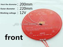 3D printer Delta rostock kossel K800 delta Round PCB hot bed 12v