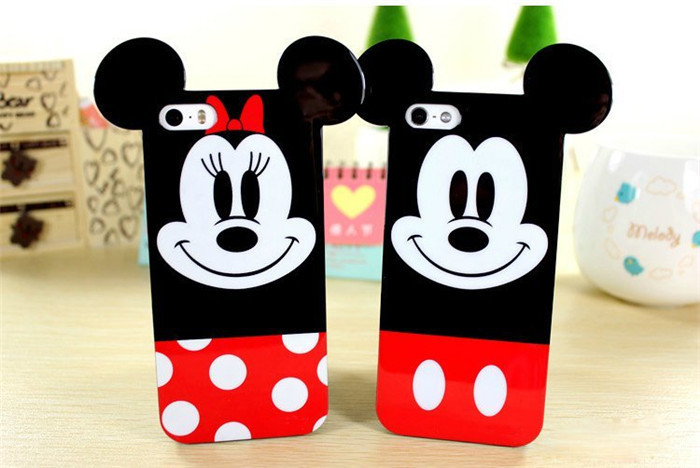 New Listing Cartoon Character Mickey Mouse Skin Case Cover for iphone 4 4S 5 5S 6(China (Mainland))