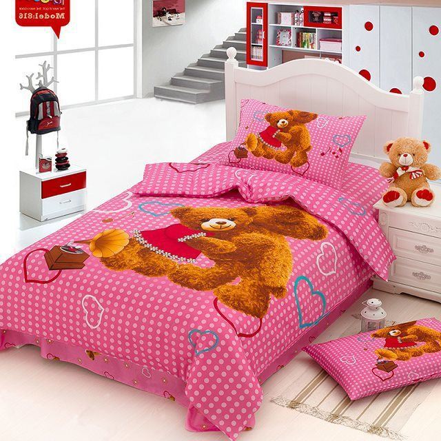 teddy bear christmas gift bedding sets duvet covers100. Black Bedroom Furniture Sets. Home Design Ideas