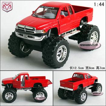 1:44 red dodge ram 1500 pickup belt shock red alloy car models free air mail