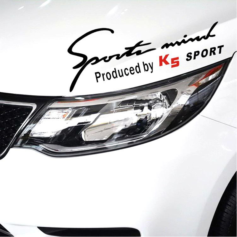 Car Sticker Decal Emblem Eyelid Reflective Stickers Sport Mind Produced by For Kia K2 K5 Exterior Accessories(China (Mainland))