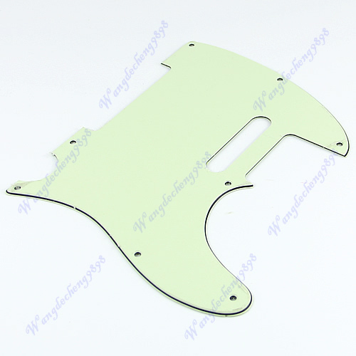 Free Shipping 1 pc 3 Ply Green Guitar Pickguard Plate For Fender Telecaster Tele Scratchplate(China (Mainland))