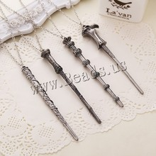 Movie Necklace Creative Harry Potter Hermione Dumbledore Voldemort Magic Wand Pendent Women Men Necklace Alloy Jewelry Accessory